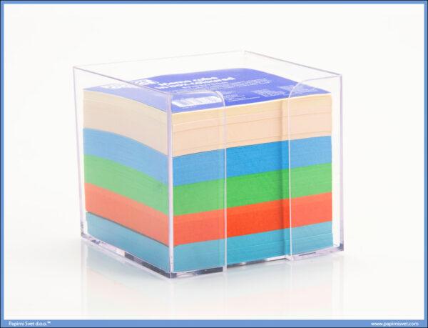Blok kocka papiri šareni sa pvc kut. 83x83x75, TTO