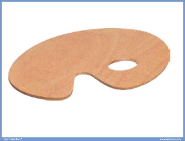 Paleta slikarska drvena ovalna C 20x30cm