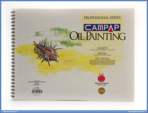 Slikarski blok za uljane boje 229x305mm 240gsm, Campap
