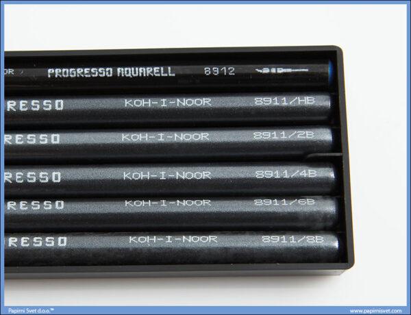 Grafitni štapići PROGRESSO u setu 6kom (HB-8B), Koh-I-Noor