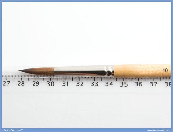 Umetnička četkica okrugla sa prirodnom KOLINSKY dlakom - 10 -