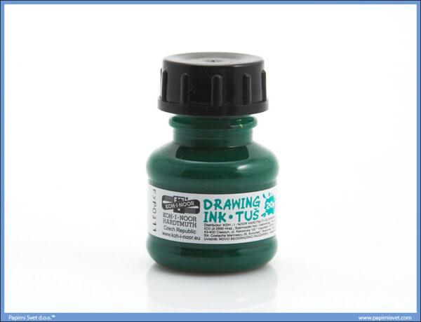 Tuš za likovno ZELENI, Koh-I-Noor - Drawing ink green