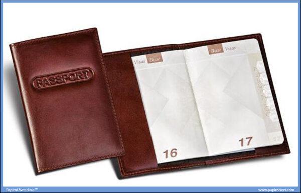 Kožna futrola za novi pasoš PRINCE LEATHER HANDMADE FOR PASSPORT