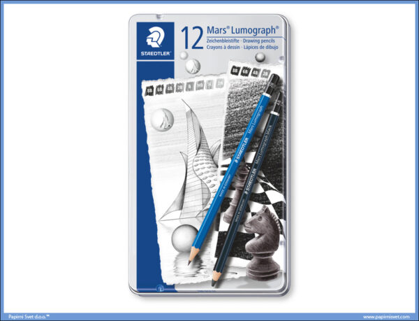Grafitne olovke DESIGN set 1/12 MARS LUMOGRAPH plus BLACK