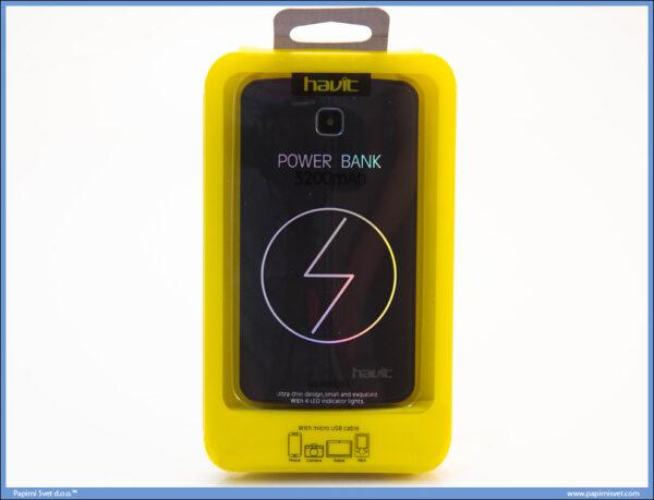 PowerBank 3200mAh crni, Havit