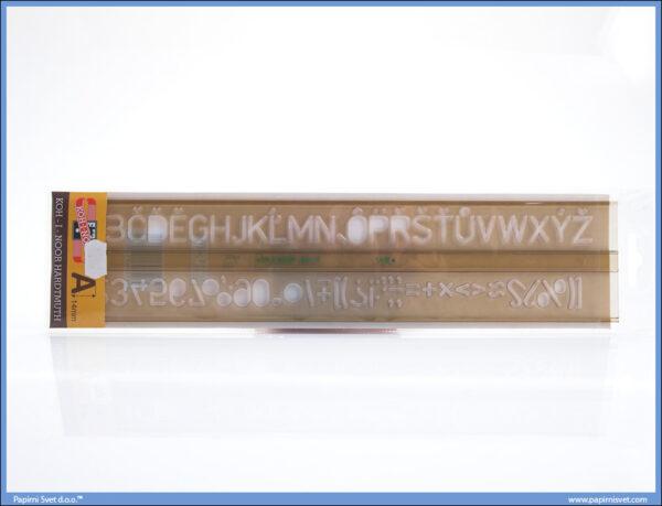 Šabloni za slova 1.4mm, Koh-I-Noor