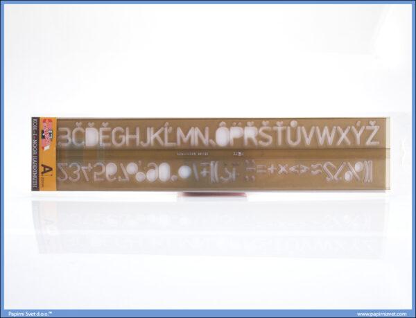 Šabloni za slova 2mm, Koh-I-Noor