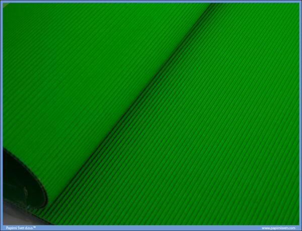 Karton rebrasti B2 50x70cm ZELENI 165gr 1/10