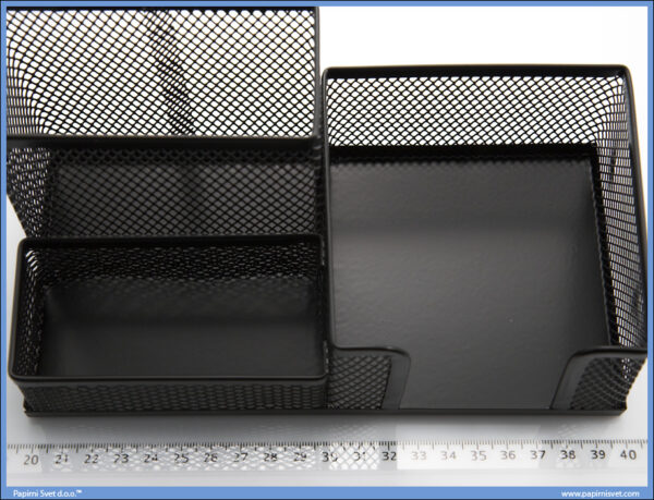 Stolni organizer mrežasti crni