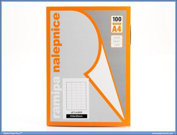 Etikete 210x20mm 100 listova, Ramipa