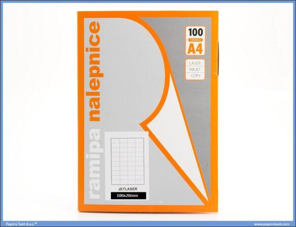 Etikete 100x20mm 100 listova, Ramipa