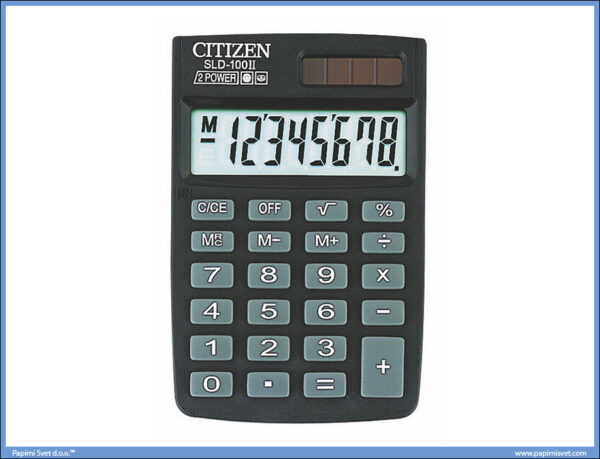 Džepni kalkulator SLD-100 8 cifara, Citizen