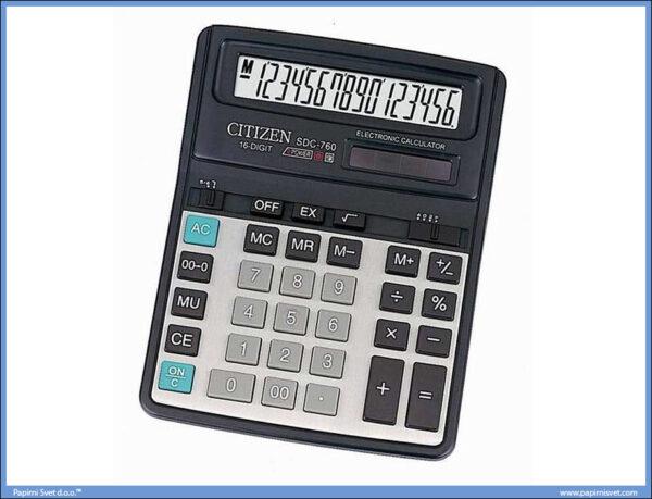 Kalkulator-Digitron poslovni 16 cifara SDC760, Citizen