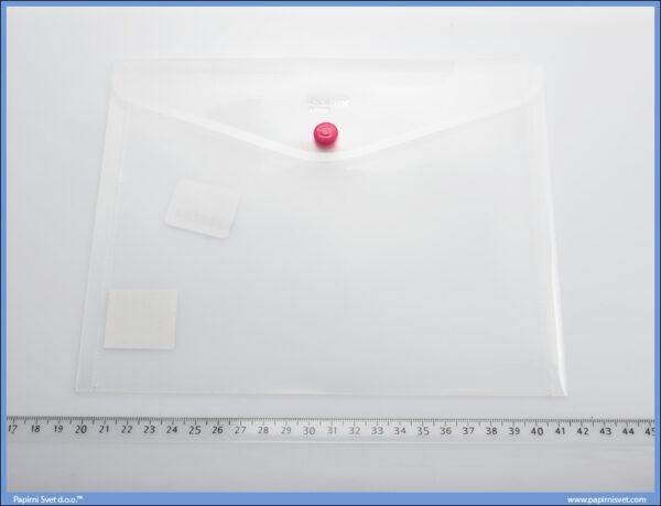 Fascikla A5 PVC koverat A1854 BELA TRANSPARENT, Comix