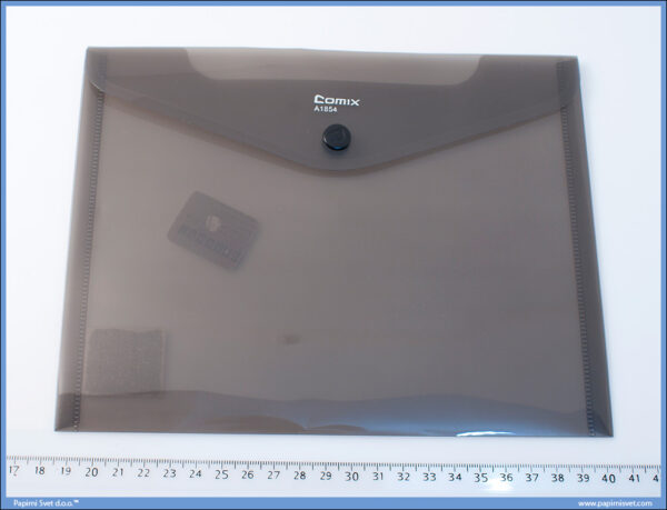 Fascikla A5 PVC koverat A1854 CRNA, Comix