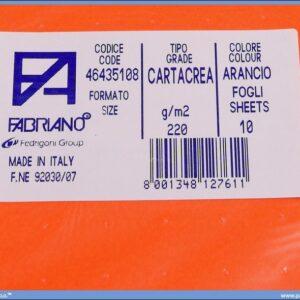 Karton B1 220gr ARANCIO 1/10
