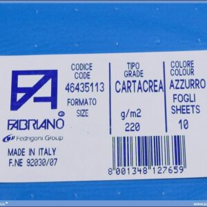 Karton B1 220gr AZZURRO 1/10