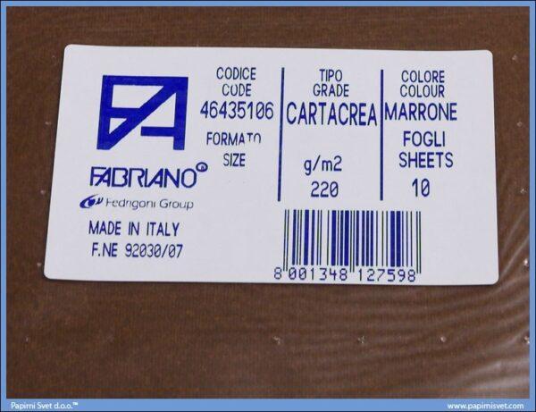Karton B1 220gr MARRONE 1/10