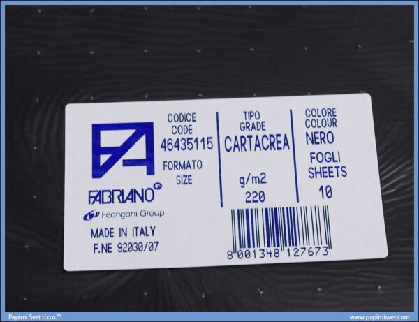 Karton B1 220gr NERO 1/10