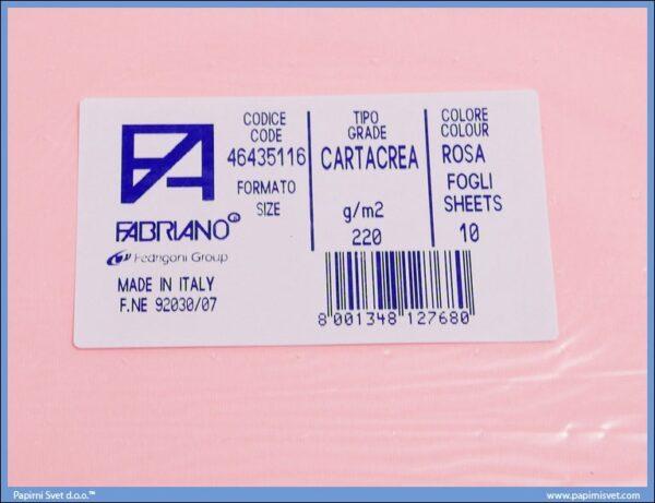 Karton B1 220gr ROSA 1/10