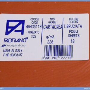 Karton B1 220gr TERRA BRUCIATA 1/10