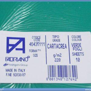 Karton B1 220gr VERDE 1/10
