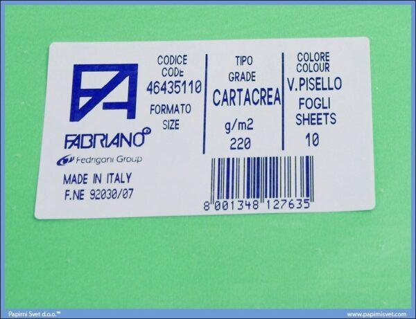 Karton B1 220gr VERDE PISELLO 1/10
