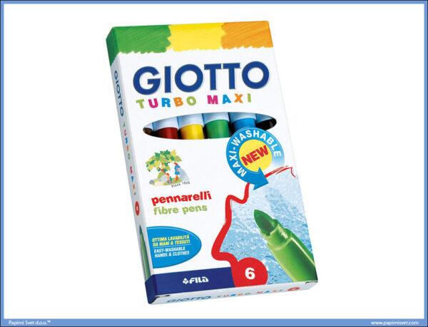 Flomasteri 1/6 TURBO MAXI, Giotto