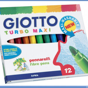 Flomasteri 1/12 TURBO MAXI, Giotto