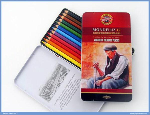 Akvarel drvene boje 1/12 MONDELUZ, Koh-I-Noor