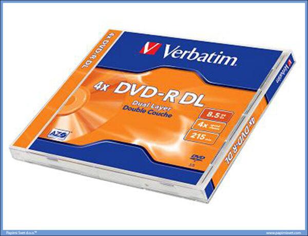 DVD-R 4X VERBATIM 8.5GB Dual LAYER