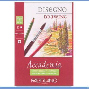 Slikarski blok Disegno Drawing 200gr 148x210mm 1/30, Fabriano