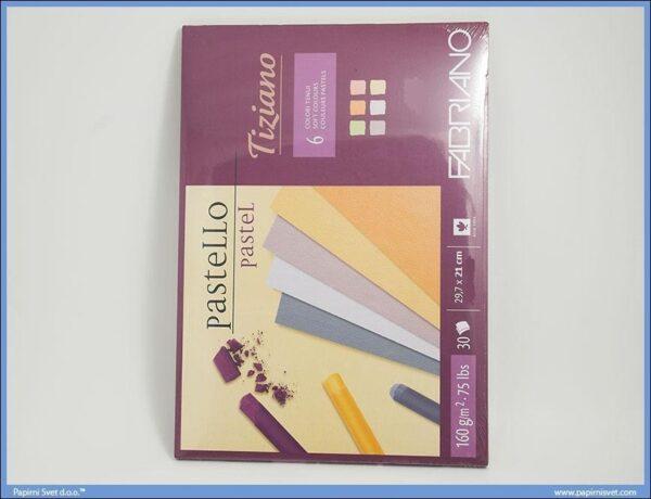 Slikarski blok za pastele 210x297mm 1/30 mix boje Pastello Tiziano, Fabriano