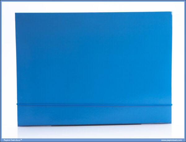 Fascikla kartonska A4 sa gumom SVETLO PLAVA