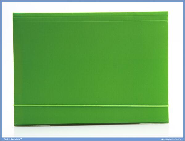 Fascikla kartonska A4 sa gumom SVETLO ZELENA