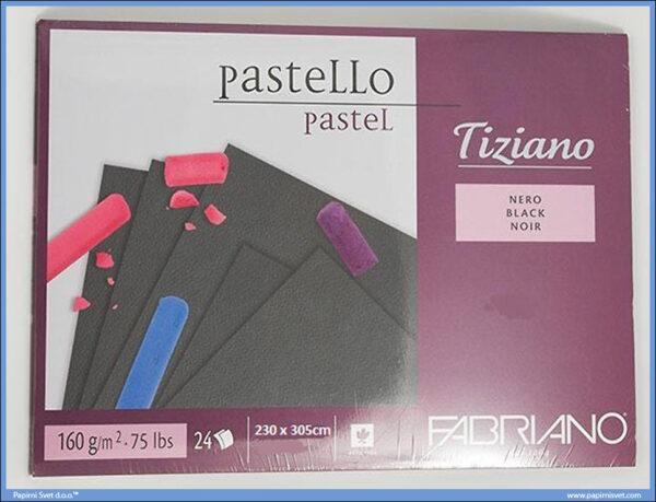 Slikarski blok za pastele 230x305mm 1/24 Tiziano NERO Fabriano