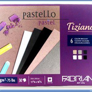 Slikarski blok za pastele 210x297 TIZIANO 6 boja BRIZZATI Fabriano