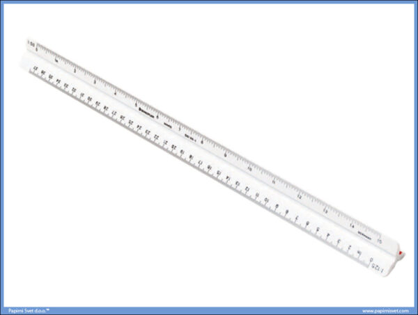 Razmernik lenjir tehnički PVC 1:20-1:100, Stadetler