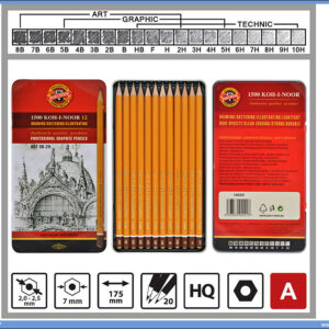 Grafitne olovke u setu 8B-2H Koh-I-Noor