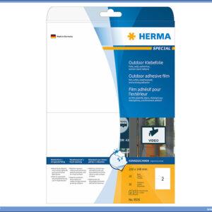 Outdoor etikete 210x148,5 A4 1/10 BELA, Herma