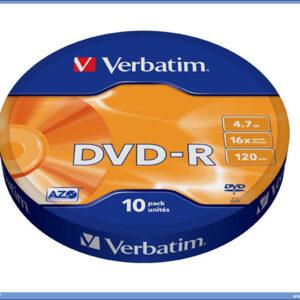 DVD-R u celofanu 1/10, Verbatim