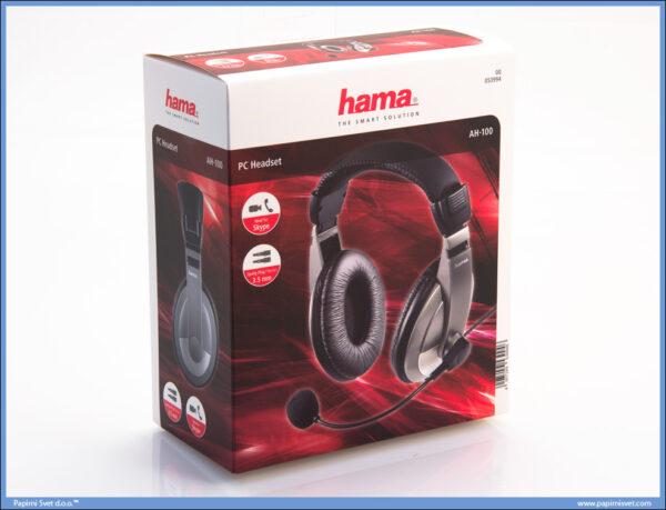 Slušalice sa mikrofonom AH-100 stereo, Hama