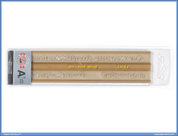 Šabloni za slova 0,35mm, Koh-I-Noor