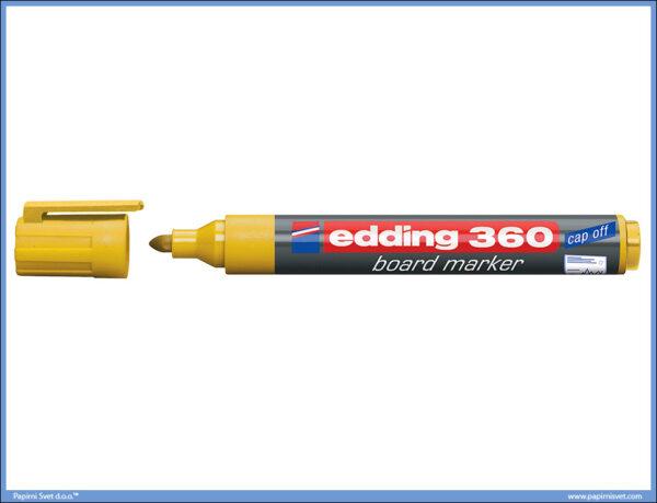 Whiteboard Marker za belu tablu ŽUTI 360, Edding