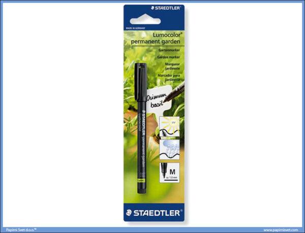 Garden marker Lumocolor permanent 1.0mm CRNI, Staedtler