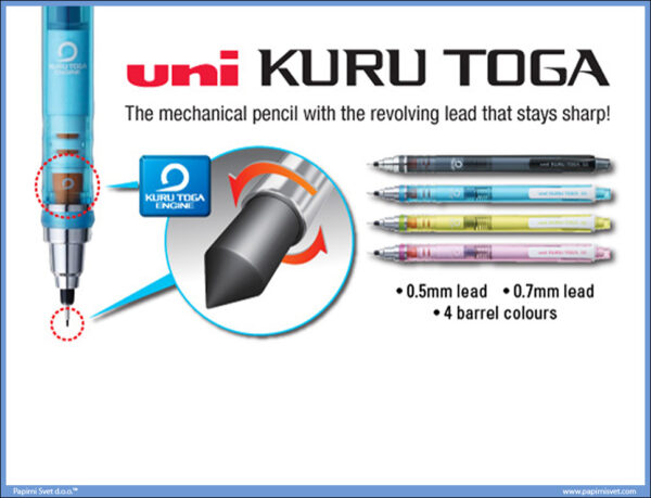 Olovka tehnička 0,5mm KURU TOGA M5-450T, Uni