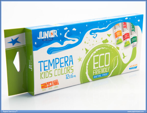 Tempere KIDS COLORS 12x6ml, Junior
