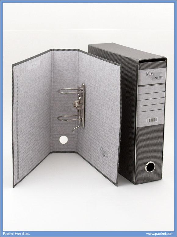 Registrator A4 sivi, Biroline 03