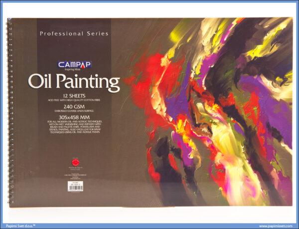 Slikarski blok za uljane boje 240gsm 305x458mm, Campap