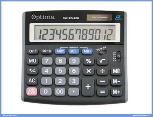 Kalkulator digitron manji SW-2242 12 cifara, Optima